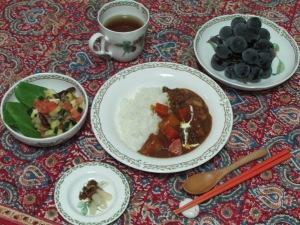 主人作の夕飯