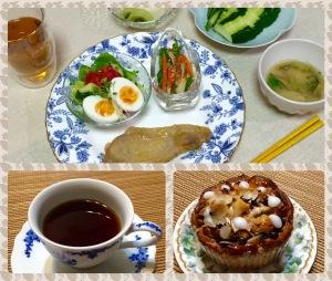 夕飯と夜な夜なティータイム