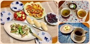 夕飯とティータイム